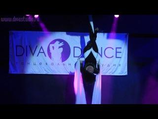 Гигант-холл 08.06.14 года. Танцы на полотнах (воздушная гимнастика). www.divastudio.ru