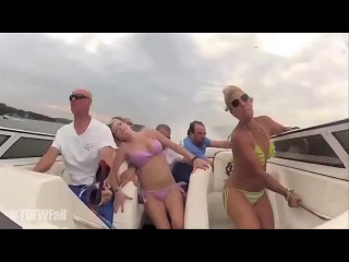 Turn Down For What Fail - Bikini Girls Boat Crash Remix - Original #TDFWFail