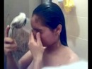 cute gf self shot shower for bf