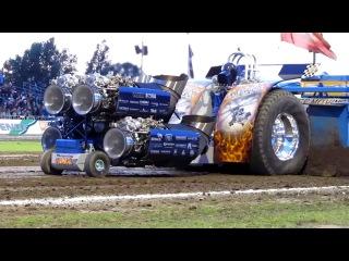 Трактор турбо - гонка в полете
