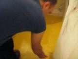 Заливка пола в ванной комнате 3ч