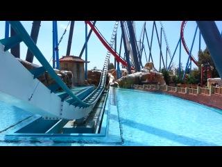 Шамбала-самая высокая горка в Парке развлечений Порт Авентура. Испания.