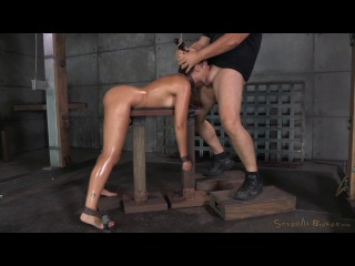 [SexuallyBroken] Busty brunette Ava Dalush chained and shackled in strict bondage, brutal deepthroat and rough sex! / Se