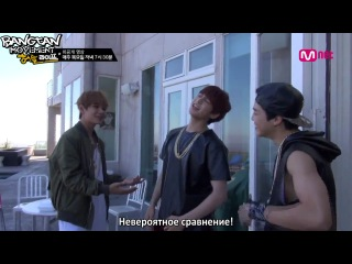 [RUS.SUB] Mnet: BTS American Hustle Life Ep.5 Unreleased Video - MNET=Warren G? Unexpectedly since beginning the boys admire to.