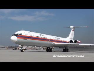 Ил-62М RA-86570, запуск, руление и взлёт