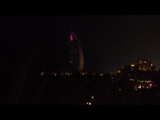 Ночной #BurjAlArab, вид из #ALFAYROOZ LOUNGE #Madinat #Jumeirah #AlQasr