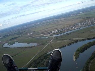 Полёт на параплане над РЯЗАНЬЮ в последний день лета 2014:))) (by Vit (EXTASY))