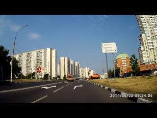 Экзаменационный маршрут ГИБДД Северное Бутово. Развороты и места для остановок на Старобитцевской улице