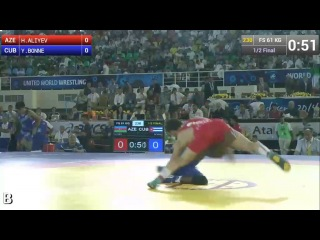 Все схватки чемпиона мира Хаджи Алиев ( Азербайджан) 61 кг г Ташкент Узбекистан 2014 г