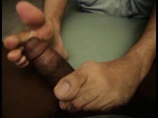 Latino feet on my dick