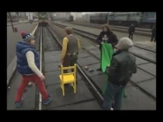 Братья Сафроновы 2012.Опасный поезд! Украина чудес.