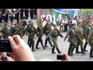Торжественный марш в Черняховске 23.08.2014, посвященный параду Русских войск, который прошел в Инстербурге 100 лет назад