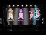 Vocaloid Miku Hatsune, Rin Kagamine, Teto Kasane, Uta Utane - Poker Face