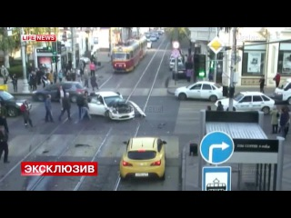 ДТП с пожарной машиной в Краснодаре попало на видео