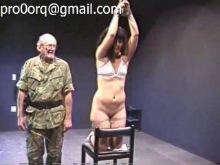 Hard whipped falaka and spanking