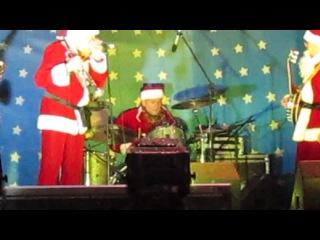 Концерт Джазовых Дедов морозов у Большого театра