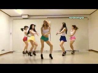 [waveya korean dance] Азиатки танцуют под gangnam style~1000