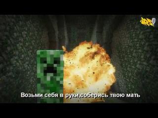 Крипер vs Эндермэн.Эпичная Рэп Битва в Майнкрафте #1 - YouTube_0_1405502688437