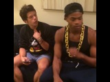 [King Bach] Clear your throat. 🎶😂 w/ [Rudy Mancuso]