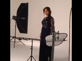 Behind the scenes during the commercial shoot with Bollywood actress, Juhi Chawla for Danube Home.