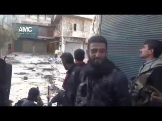 Азан во время боя в Сирии... Аллаhу Акбар !