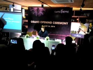 [140823]  Lee Jong Suk @ Caffe Bene Grand Opening