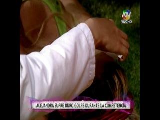 Alejandra Baigorria se lesiona