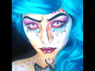 Фейс арт от beautybydehsonae в стиле popart