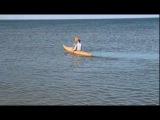 Испытание каяка (в море). Судоверфь «Яхтстрой»
