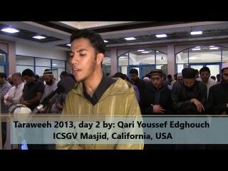 Superb Taraweeh 2013 _ day 2 _ Al-Baqara _ USA _ Qari Youssef Edghouch (ICSGV)