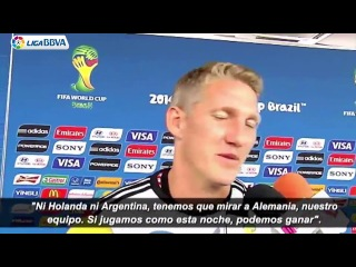 Bastian, Thomas and Mats after the match Germany - Brazil (English)
