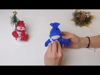 Новогодняя поделка (сувенир) 'снеговик'  Часть 2