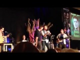 Jensen Ackles and Rob Benedict singing The Boys Are Back In Town at #VanCon