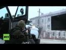Бой в грозном 04122014 Штурм школы видео от первого лица со стороны силовиков перестрелка боевые действия Чечня