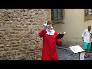Живая статуя Данте читает божественную комедию, часть первая - Аааадддд