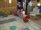 Юлия Зауголова - тяга в комбезе 270.5, тренировка 08.02.06