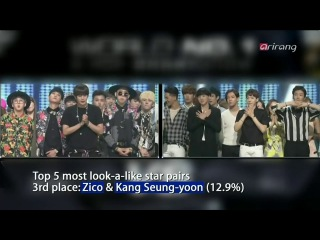 141003 Showbiz Korea Celebrity lookalikes Zico & Seungyoon