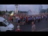 16.08.2014 По главной улице Запорожья прошёл гей-парад и марш неонацистов  Коломойского .