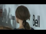 Keira Knightley braves stormy conditions in Toronto