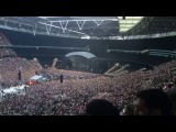 Eminem at wembley stadium 2014. Rap god verse live.