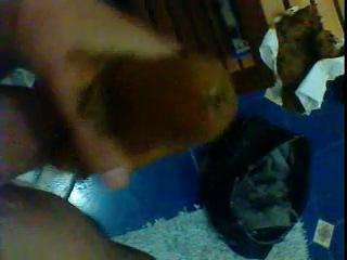 Scat condom break