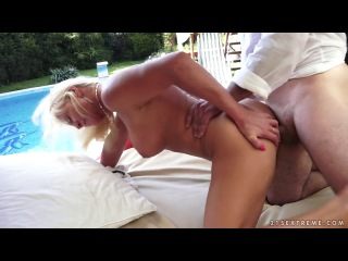 [LustyGrandmas 21Sextreme] Anett - Burning with Desire [720p/18.09.2014 г., Outdoors,MILF,Blonde,Shaved Pussy,Tatu,Big T