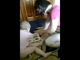 Лилия учит буквы! детский смех..хех ну очень Заразительный