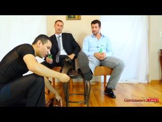 2 man 1 slave - shoes, sheer socks and barefeet