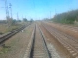 дорога в Адлер на скоростном поезде последний вагон проезжаем краснодарский край
