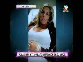 Alejandra Baigorria en la clínica