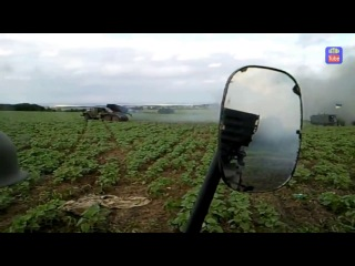 Огонь Града по скоплению боевиков Grad firing at militians