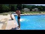 прыжок в воду,  сальто)))