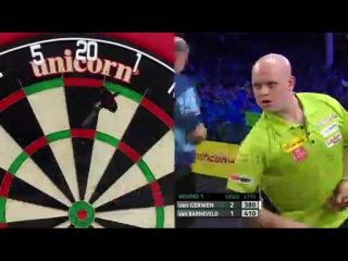 Michael van Gerwen vs Raymond van Barneveld (Players Championship Finals 2014 / Round 1)