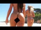 Juju e  Nicole nuas na Praia de Nudismo SEXOPLAY